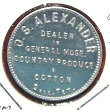 Dale Texas O S Alexander Dale Good for 25c Trade Aluminum  28mm Token