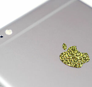 Gold Glitter Color Changer Overlay for Apple iPhone 7 and 7 Plus Logo Decal