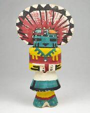"""Hopi Sun-Face Katsina Doll Mini Painted Carved Kachina Vintage Souvenir 5.5"""""""