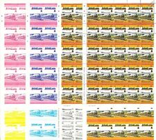 GCR/LNER Jersey Lily 4-4-2 Train Progressive Proof 50-Stamp Sheets x 8 (Imperf)