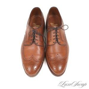 SOLID Allen Edmonds Made in USA Lombard Cognac Leather 2622 Wingtip Shoes 11 EEE
