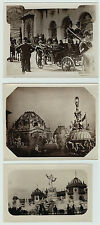 RARE Unknown 3 Snapshot Photos William Mckinley, etc Pan American Expo 1901