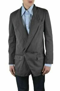 Dolce & Gabbana Men's Gray Linen Double Breasted Blazer Size US 38 IT 48