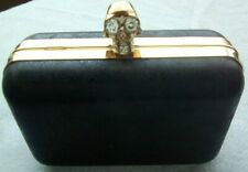 Skull Faux Leather Evening Clutch Bag perfect condition leather Fits in the hand