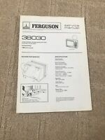 Thorn Furguson 38030 Service Manual For Television