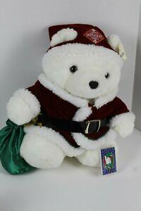 1998 Santa Bear Christmas White Plush Santa Suit with Flip Book Dayton Hudson 17