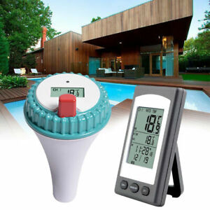 2 in1 Wireless Swimming Pool Thermometer SPA Bathtub Floating Thermometer LCD