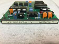 Studer A827 D827 A820 D820 Tape Deck Serial Interface 1.820.763.83