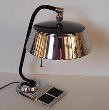 Art Deco Machine Age Chrome Desk Lamp Kurt Versen Gilbert Rohde Chase Markel Era