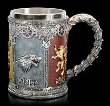 Game of Thrones Krug - Siegel Königshäuser - Fantasy GoT Weinkelch Geschenk