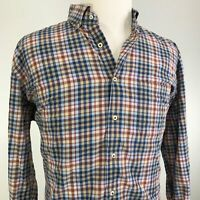 PETER MILLAR GINGHAM CHECK PLAID LONG SLEEVE BUTTON DOWN SHIRT MENS SIZE XL