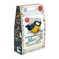 British Bobbin Birdies Blue TIT Needle Felting Kit Containing 100 Wool Felting