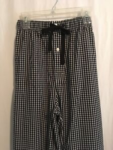 Cremieux Men Cotton Lounge Pajama Pants Sz XLT 2XLT 2XB Black White Checks NWT