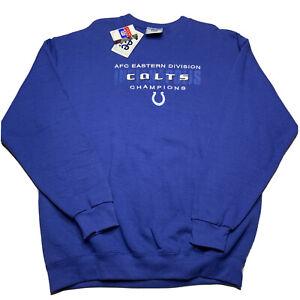 Vintage Lee Men's L Indianapolis Colts Embroidered Crewneck Sweatshirt NEW Usa