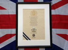 Oath Of Allegiance 17th / 21st Lancers (framed with Cap Badge)
