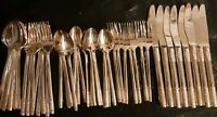 Gold Plated Basketweave Pattern: Rotunda Presents Gold Stainless Silverware 46pc