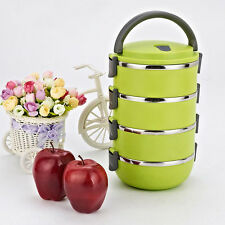 4 Layers Stainless Steel Thermal Insulated Bento Lunch Box Food Jar Container BE
