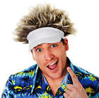 Ian Poulter Hat & Wig Pub Golf Visor & Hair Ryder Cup Tournament Fancy Dress