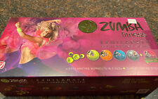 New Zumba Fitness Exhilarate Ultimate Experience 7 Dvd Set & Toning Sticks