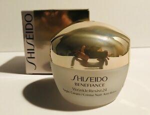 Shiseido Benefiance WrinkleResist24 Night Cream Full Size 50ml / 1.7oz SEALED