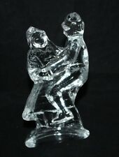 Royal Krona? - Ice Crystal Clear Glass Figure of couple dancing - vgc