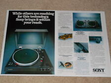 Sony 1977 PS-X7, X6, X5 Turntable Ad, 2 pg, Articles, Info, Frame it!