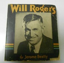 1935 Story of WILL ROGERS Photo Cover SC Saalfield BIG LITTLE BOOK VG+