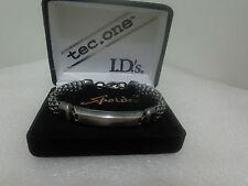 US Vintage SPEIDEL USA Signed PEWTER ID Bracelet Designer Jewelry Collection BA
