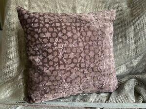 Romo geometric Spot Velvet Aubergine Cushion Cover 20x20inches