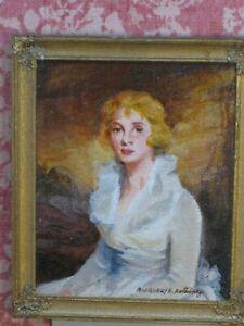Ruthberg Oil Painting Eleanor Urquhart à la Raeburn Artisan Dollhouse Miniature