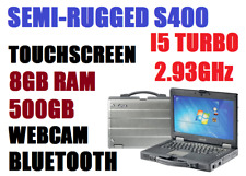 GETAC S400 SEMI-RUGGED LAPTOP i5-TURBO 2.93G 8GB 500GB TOUCHSCREEN CAM BT WIN10