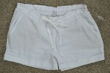 Old Navy new Women's White Linen Blend Elastic Drawstring Waist Shorts sz 2 NWT