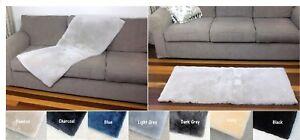SHEEPSKIN PLATE RUG THROW RUNNER BED CHAIR FLOOR HOME LAMB FUR RUGS 60x140cm
