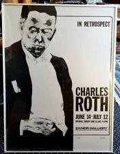 "Vintage Print by Artist Charles Roth FRAMED 1981 ZANER Rochester ""IN RETROSPECT"""
