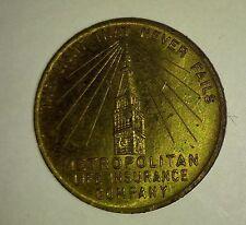 1940 NY World's Fair Metropolitan Life Insurance Exhibit Coin Token Medal VG 4.0