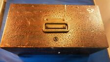 "Vintage Heavy Duty Steel Strong Box 12""x 6""x 5"" Treasure Chest - No Key"
