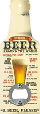 Handflaschenöffner - How to order a beer around the world - Öffner GB8577-4