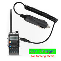 Walkie Talkie Battery Car Charger Adapter Cable Cord for Baofeng UV-5R Ham Radio