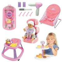 CASDON BABY DOLL SET Play Roleplay Children Car Booster Bath Hair Styling Walker