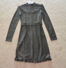 Maje Rister Metallic Sparkle Mini Dress Size 1 US XS