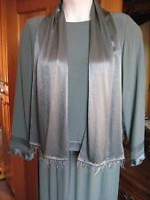 Ursula of Switzerland Jade Green Two Piece Skirt & Top Mother-of-Bride Groom 12