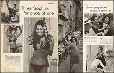 1950s Movie article Three Sophias for the Price of One! Sophia Loren 3pgs 072017