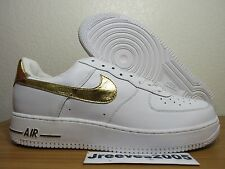 DS 2005 Nike Air Force 1 Sz 13 100% Authentic White Gold RARE 306353 173