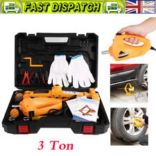 12V 3Ton Electric Scissor Car Emergency Jack Lift Crank Handle + Impact Wrench