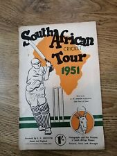 SOUTH AFRICAN CRICKET TOUR 1951 BOOKLET - RUSTY STAPLES