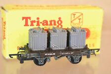 More details for triang t276 tt gauge br black conflat wagon b530298 with container load boxed