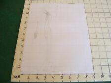 vintage Funky, Hip, Fashion Drawing: side view, very skinny, with huge shoe