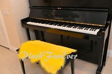 """20"""" x 30"""" A24 PIANO Bench PADDING Keyboards Accessories  Acrylic Yellow FAUX FUR"""