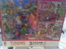 Ceaco boxed set of three Cartoon Puzzles 100.300,& 500 piece