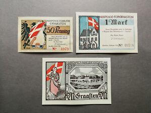 Denmark,set of notgelds Graasten,1920 UNC